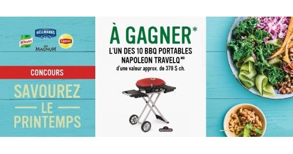 Concours Gagnez l'un des 10 BBQ portables NAPOLEON TRAVELQ!