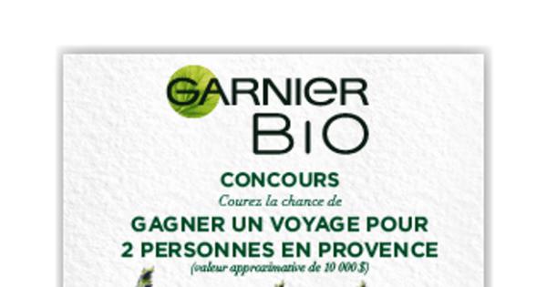 Concours Gagnez un voyage pour 2 en Provence d'une valeur approximative de 10 000$!