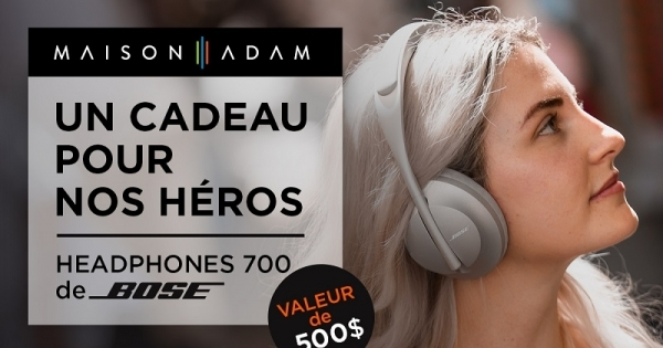 Concours Gagnez un casque d'écoute Headphones 700 de Bose  par jour durant le mois d'avril!