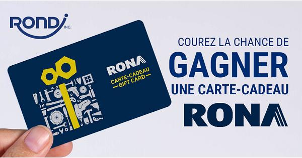 Concours Gagnez une carte-cadeau Rona de 25$!