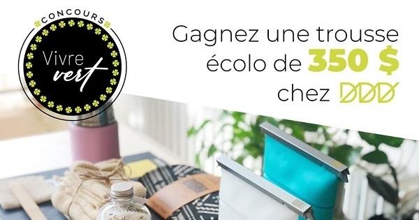 Concours Gagnez 350 $ en produits écolos dédié au Design Durable!