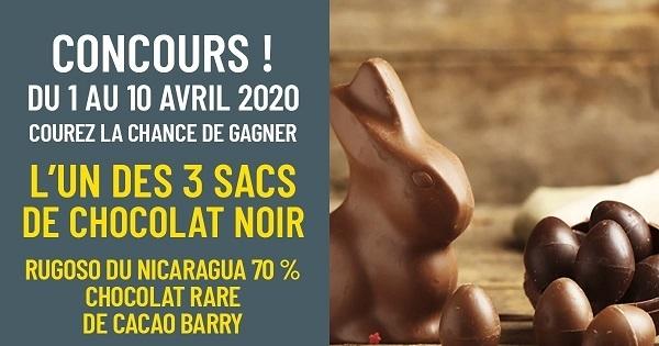 Concours Gagnez l'un des 3 sacs de chocolat noir Rugoso du Nicaragua!