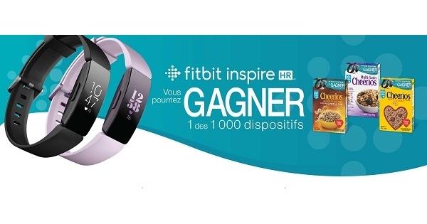 Concours Gagnez 1 des 1 000 dispositifs de suivi de mise en forme Fitbit Inspire!