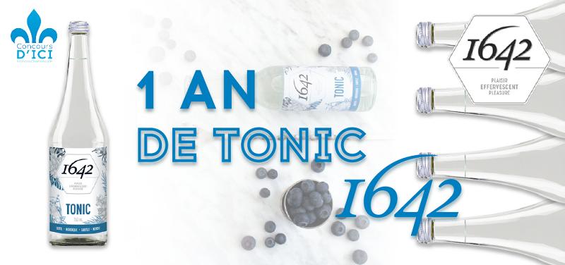 Concours Gagnez l'équivalent d'un an d'eau de tonique de la compagnie montréalaise 1642!