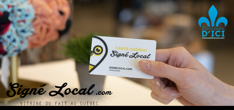 Concours Gagnez l'une des trois cartes-cadeaux de 100$ pour magasiner chez Signé Local!