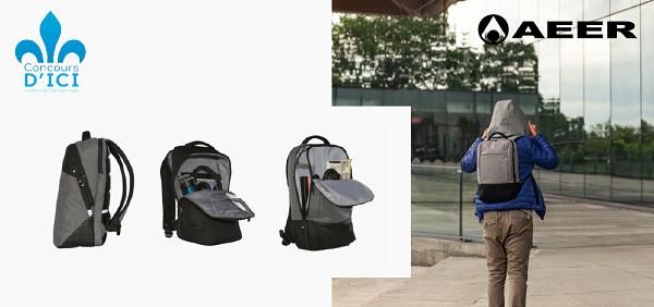 Concours Gagnez l'un des trois sacs à dos résistants et imperméables de la marque Aeer!