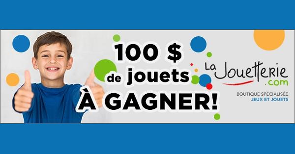 Concours Gagnez un ensemble de jouets de La jouetterie d'une valeur de 100$!