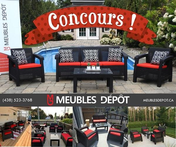Concours Gagnez un ensemble complet d'extérieur SUNSET 5 places offert par Meubles Dépôt!
