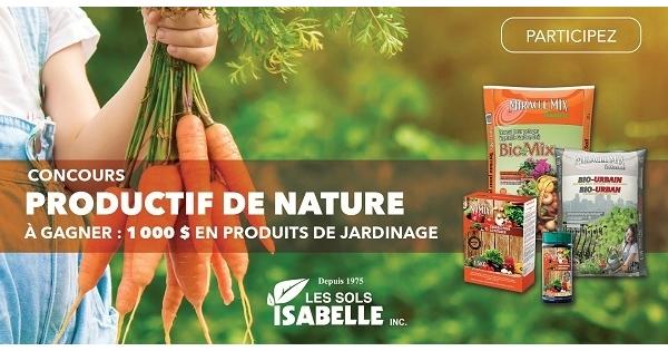 Concours Productif de nature présenté par Les Sols Isabelle!