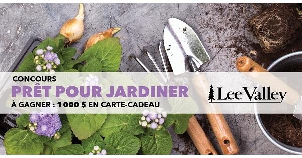 Concours Prêt pour jardiner avec Lee Valley!