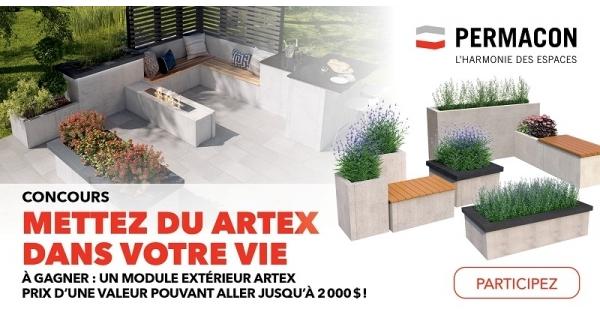 Concours gagnez un module extérieur ARTEX d'une valeur jusqu'à 2000$!