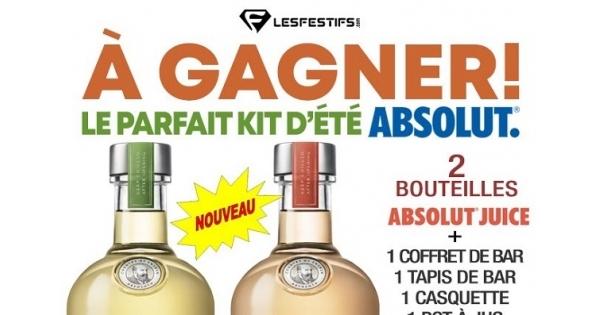 Concours GAGNEZ LE KIT COCKTAIL PARFAIT POUR L'ÉTÉ AVEC ABSOLUT!