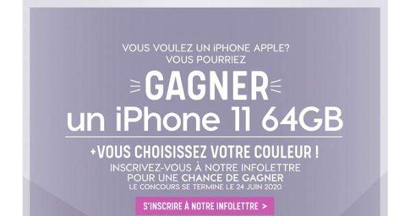 Concours Gagnez un iPhone 11 64GB!