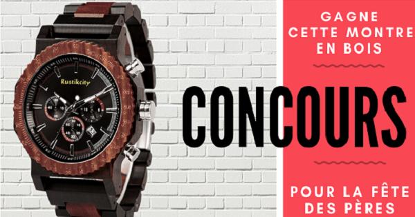 Concours Gagnez une montre en bois offerte par Rustikcity!