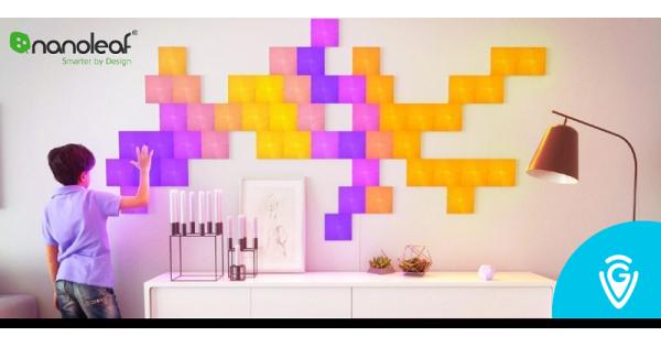 Concours Gagnez un kit de panneaux LED Nanoleaf en collaboration avec le site de Guide Vacances!