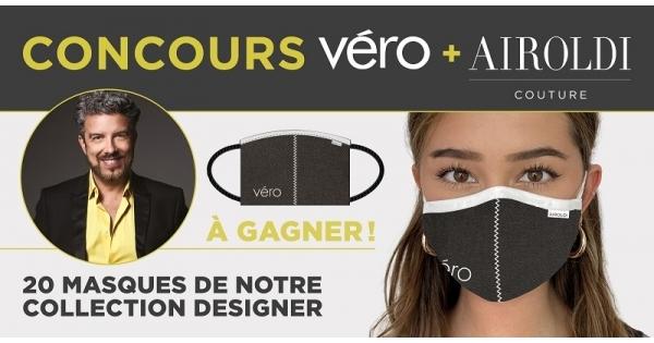 Concours Gagnez l'un des 20 masques en tissu de la collection Designer d'Airoldi Couture!