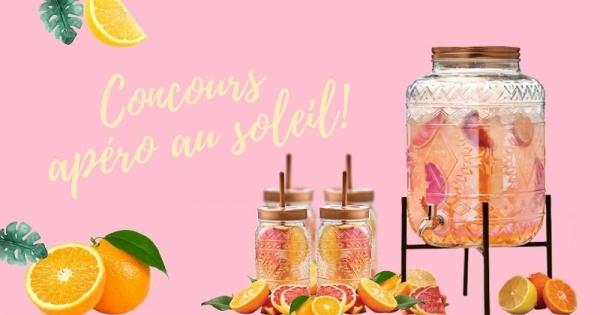 Concours Gagnez un ensemble comprenant un distributeur de boissons ainsi que quatre verres assortis!
