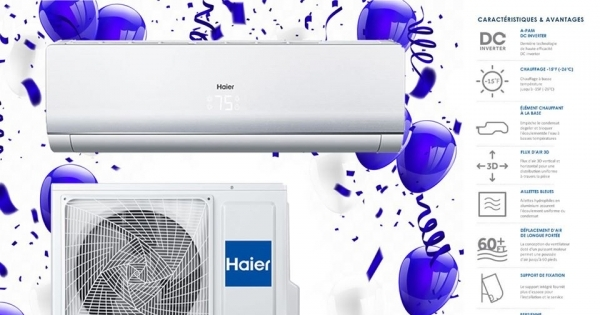 Concours À Gagner : Thermopompe HAIER 12 000 BTU