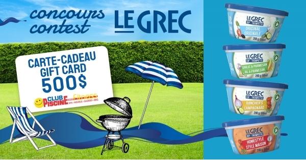 Concours Faites Trempette avec Le Grec et Club Piscine!