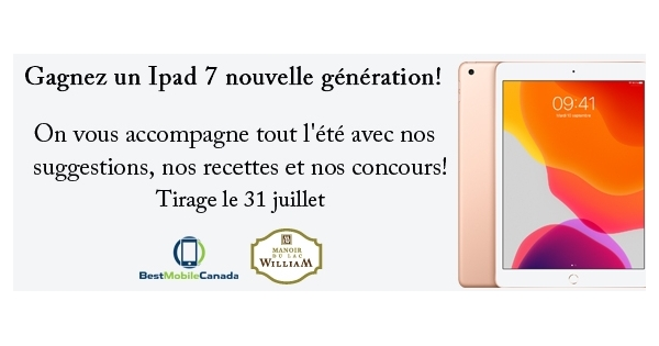 Concours Gagnez un Ipad 7 nouvelle génération!