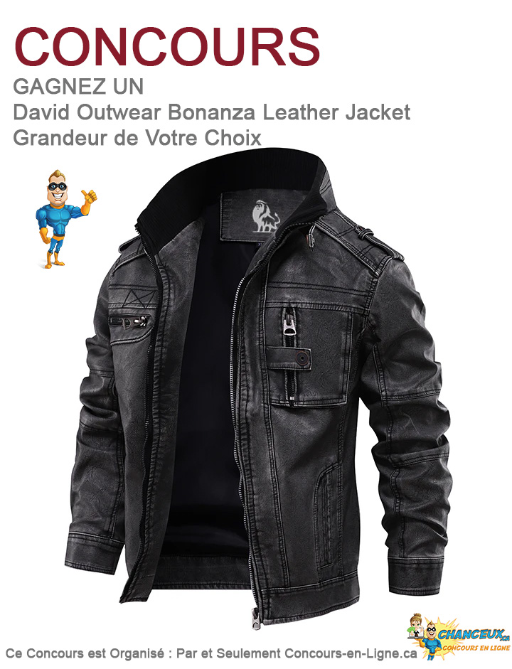 CONCOURS EXCLUSIF - Concours Jacket  en Cuir Édition Bonanza de David Outwear