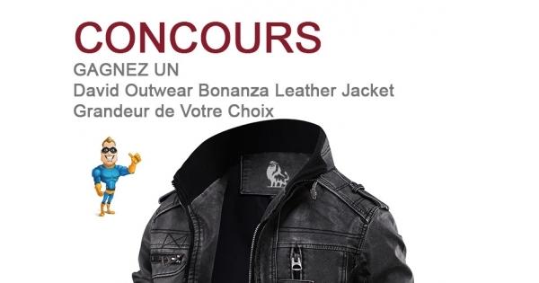 Concours Jacket  en Cuir Édition Bonanza de David Outwear
