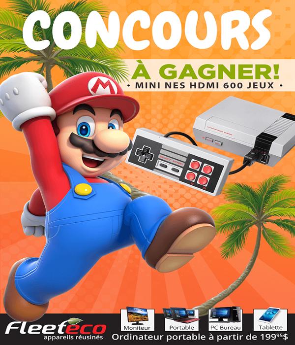 Concours Gagnez une console mini NES 600 jeux!