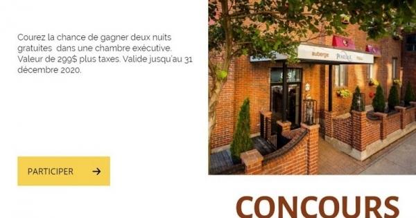 Concours Gagnez 2 nuits gratuites à L'auberge Pomérol!