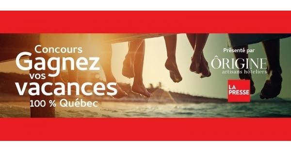 Concours Gagnez l'un de 5 forfaits vacances dans l'établissement de votre choix du réseau Ôrigine artisans hôteliers!