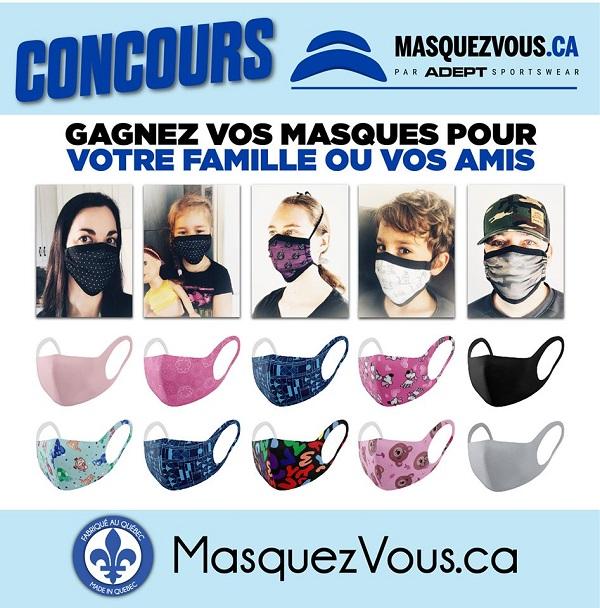 Concours GAGNEZ VOS MASQUES POUR TOUTE LA FAMILLE OU VOS AMIS!