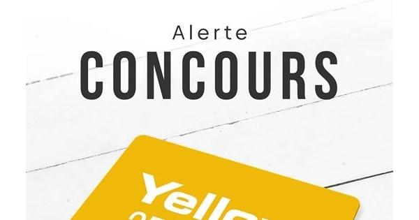 Concours Gagnez une carte cadeau d'une valeur de 250$ chez Yellow!