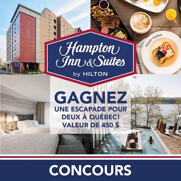 Concours Gagnez une escapade pour 2 personnes à Québec cet été!