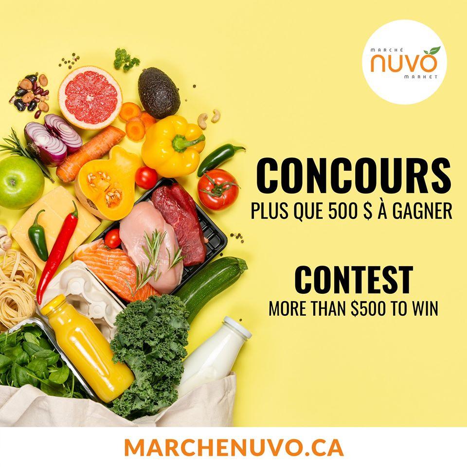 Concours Gagnez 500 $ en Épicerie en Ligne