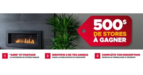 Concours Gagnez 500 $ de Store