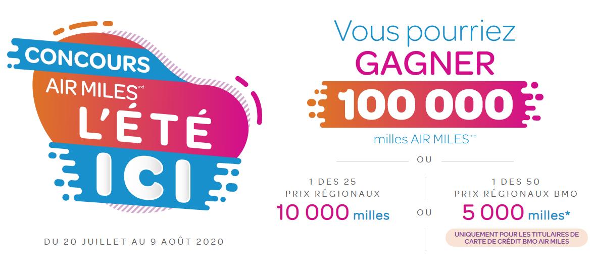 Concours Gagnez 100 000 Milles Air Miles
