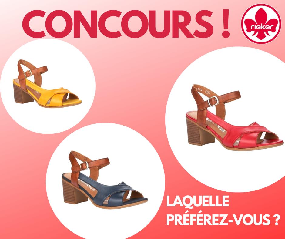 Concours Gagnez une Paire de Chaussures RIEKER ou REMONTE de votre Choix