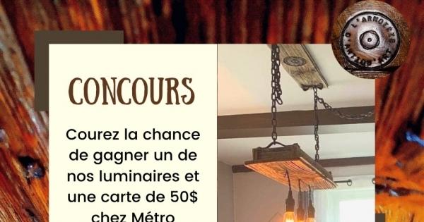Concours Gagner un Luminaire et 50$ chez Métro