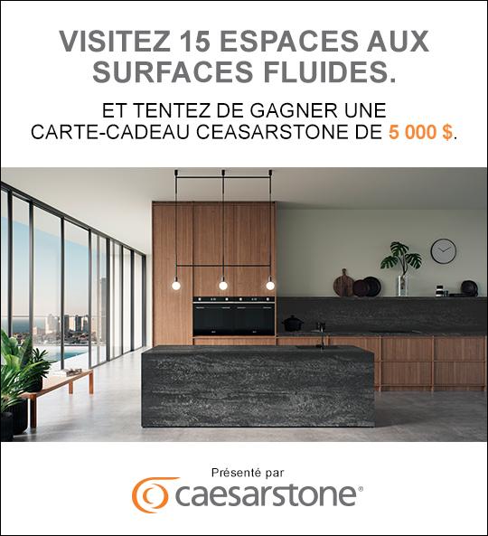 Concours Gagnez un chèque-cadeau d'une valeur de 5000$ à dépenser chez Caesarstone Canada!