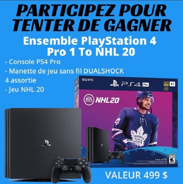 Concours Gagnez un Ensemble PlayStation 4 Pro 1 To NHL 20. Valeur 499$!
