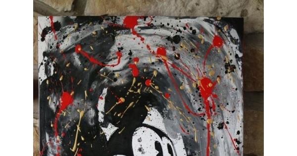 Concours Gagnez une toile Mickey Éclaté 18X24 par Sophie Couture Artiste Peintre!