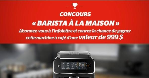 Concours Gagnez une machine à café d'une valeur de 999$!