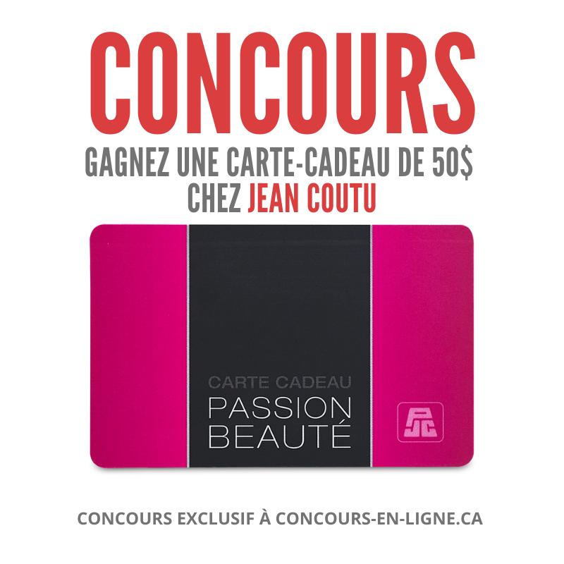 CONCOURS EXCLUSIF - Concours Gagnez une Carte-Cadeau de 50 $ chez Jean Coutu