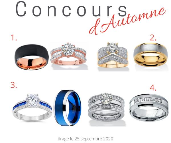 Concours Gagnez un ensemble de bagues offertes par Bijoux Escargot!