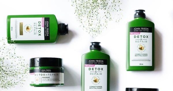 Concours Gagnez un ensemble de produits de la gamme Detox & Repair de John Frieda + un fer à lisser!