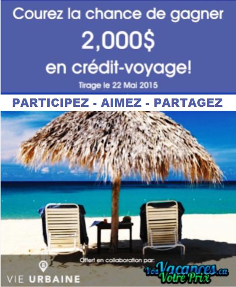 Concours Gagnez 2000$ en crédit voyage