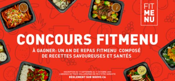 Concours Gagnez 1 an de repas Fitmenu!