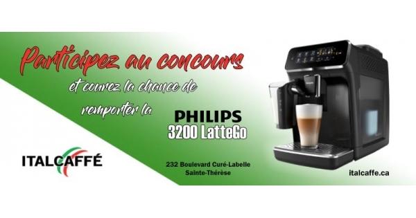 Concours Gagnez une machine à café Philips 3200 LatteGo!