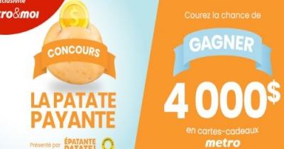 Concours Gagnez une Carte-Cadeau Metro d'une valeur de 4 000$!