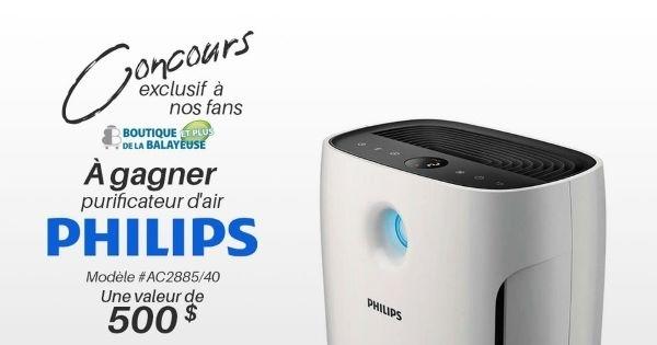 Concours Gagnez un purificateur d'air de marque Philips, d'une valeur de 500$!