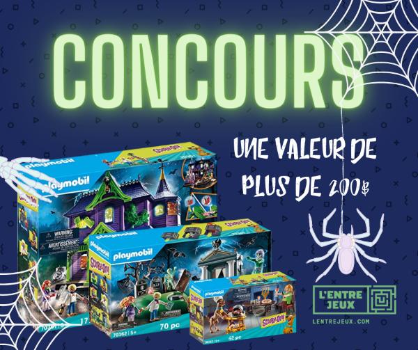 Concours Gagnez un ensemble de Playmobil Scooby-doo d'une valeur de plus de 200$!